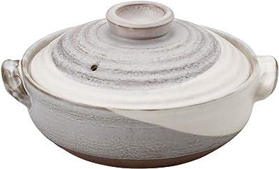 山下工芸 土鍋 陶器 28×φ25×15cm(2000cc)(身9cm) 京粉引8号IH鍋 プレート付 15032290