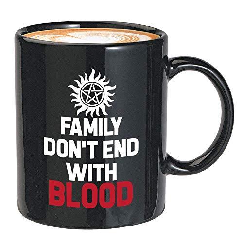 N\A Taza de café de la Serie de televisión - la Familia no Termina con Sangre - Cita única de Monstruos Fantasmas sobrenaturales de Winchester fantasía Oscura Americana