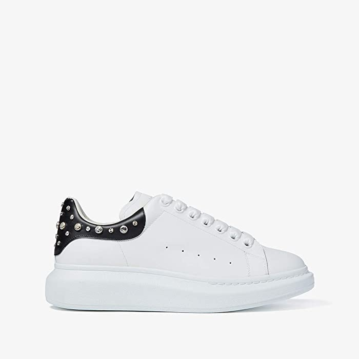 Alexander McQueen  Double Sole Studded Sneaker (White 1) Mens Shoes
