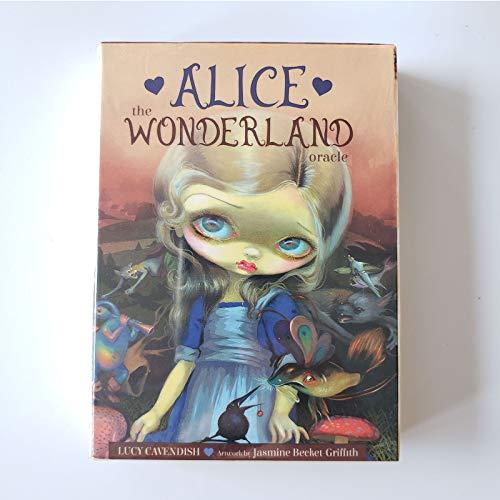 DJXLMN 45 Alice Das Wunderland Orakelkarten, Anfänger Solitaire, Geeignet Für Brettspiele, Partys