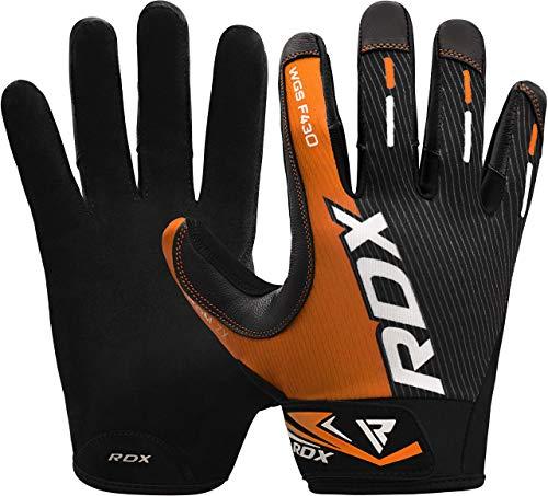 I guanti da ginnastica RDX con dita piene sono prodotti in Lycra e in robusto materiale in pelle che li rende robusti. Resistono alle spaccature sotto una forte pressione ponderata. Ideali per il sollevamento pesi, Powerlifting, Bodybuilding e altro ...