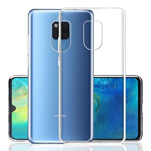 DOSMUNG Hülle für Huawei Mate 20 X, Schutzhülle für Huawei Mate 20 X Handyhülle Case, Ultra Clear Silikon Gel TPU Soft Hülle, Anti-Scratch Backcover Handyhülle für Huawei Mate 20 X (Transparent)