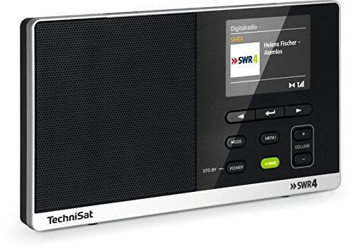 TechniSat Digitradio 215 SWR4 Edition - portables DAB Radio (DAB+, UKW, Farbdisplay, SWR4-Direktwahltaste, Wecker, Favoritenspeicher, Kopfhöreranschluss, Netz- & Batteriebetrieb) schwarz