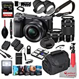 Sony Alpha a6400 Mirrorless Camera with 16-50mm and 55-210mm Lenses Bundle + Extreme Speed 64GB Memory + (31 Items)