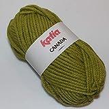 Lanas Katia Canada Ovillo de Color Pistacho Cod. 15
