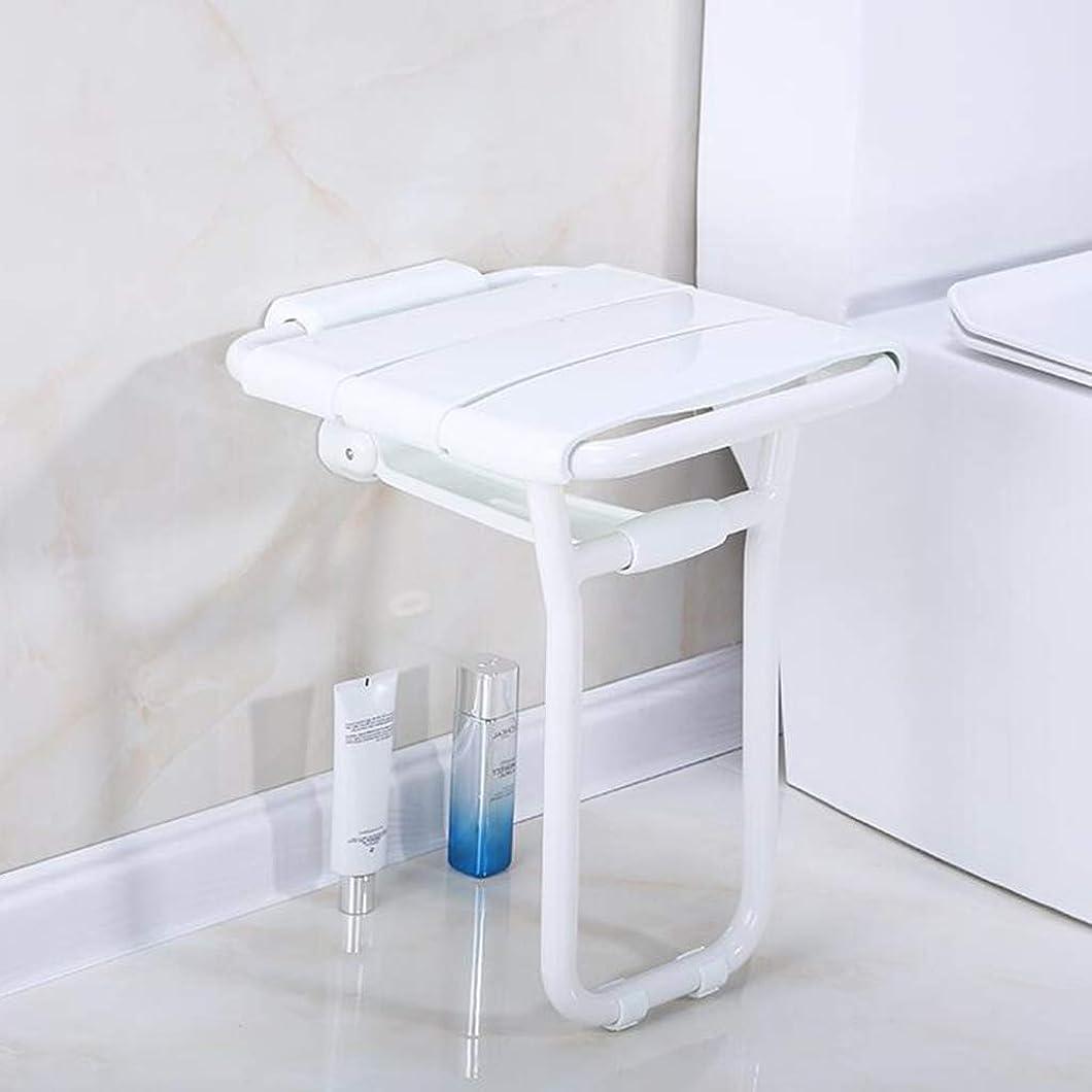 インテリア火傷逆にバスルームのシャワーシート、壁に取り付けられた折りたたみ式のバスルームのスツールベンチ、入浴支援ホームサウナルームの使用、ステンレス製の脚