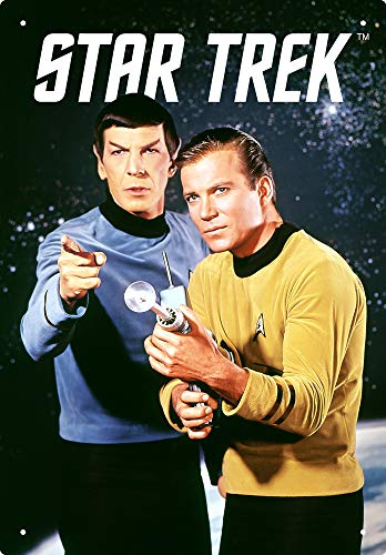 AQUARIUS Star Trek Kirk & Spock Blechschild