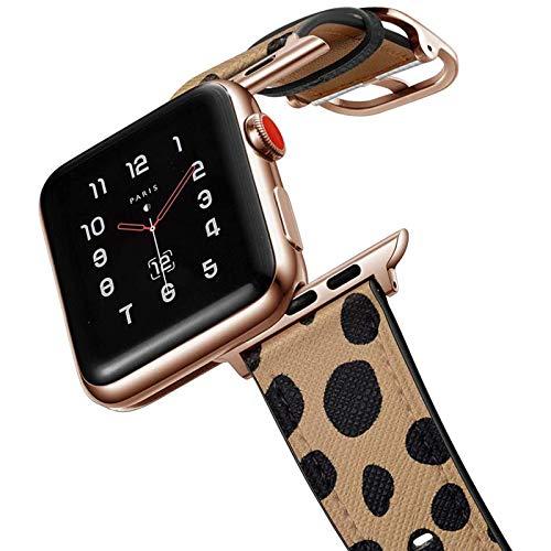 amBand Retro Lederbänder Kompatibel mit Apple Watch Armband 44mm 42mm 40mm 38mm, Männer Frauen Jahrgang lederbänder für iWatch Serie 6 5 4 3 2 1,SE,Sport,Edition