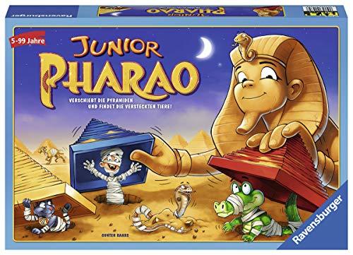 Ravensburger 21435 - Junior Pharao - Gesellschaftsspiel für die ganze Familie, Junior Version, Spiel für Erwachsene und Kinder ab 5 Jahren, für 2-4 Spieler - Schätze suchen