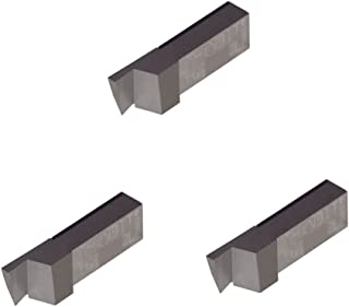 THINBIT 3 Pack LGT030D5R 0.030 Width 0.090 Depth Sharp Corner Uncoated Carbide Grooving Insert for Non-Ferrous Alloys Aluminium and Plastic Without Interrupted Cuts