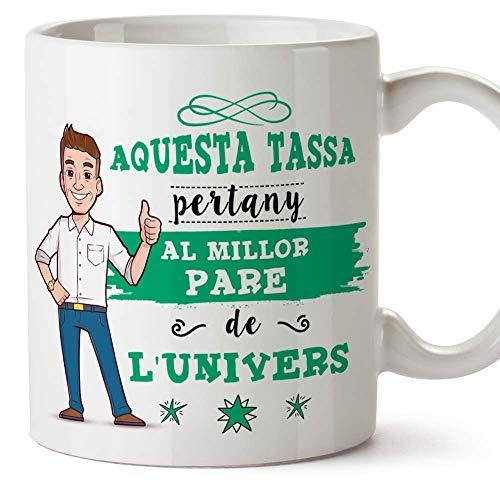 """MUGFFINS Taza Papá (En Catalán) -""""Aquesta Tassa Pertany al Millor Pare de l"""