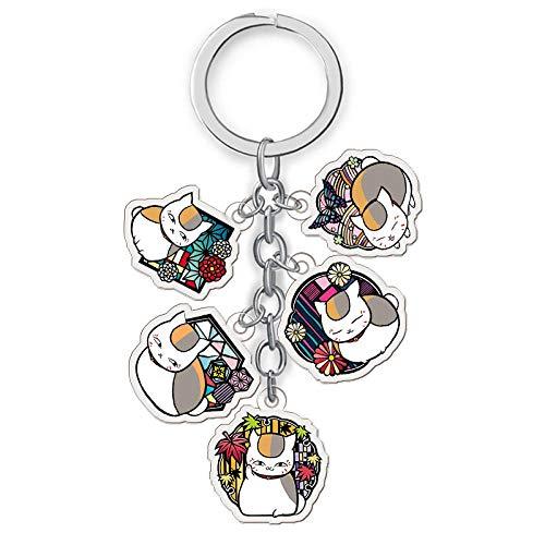 Animation um Legierung Keychain mit 5 Anhänger-sammelbarer Schlüsselring-Beutel-Neuheit-Zusatz-Anime-Karikatur-Anhänger-Anime-Ventilator-Geschenk (2 PC)-10