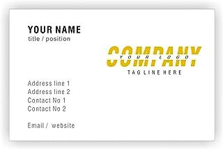 Personalisierte Visitenkarten mit Logo Individuelle Individuelle Individuelle Professional Company Visitenkarte - Front B01EUKV5PO  Angenehmes Aussehen c5bc6f