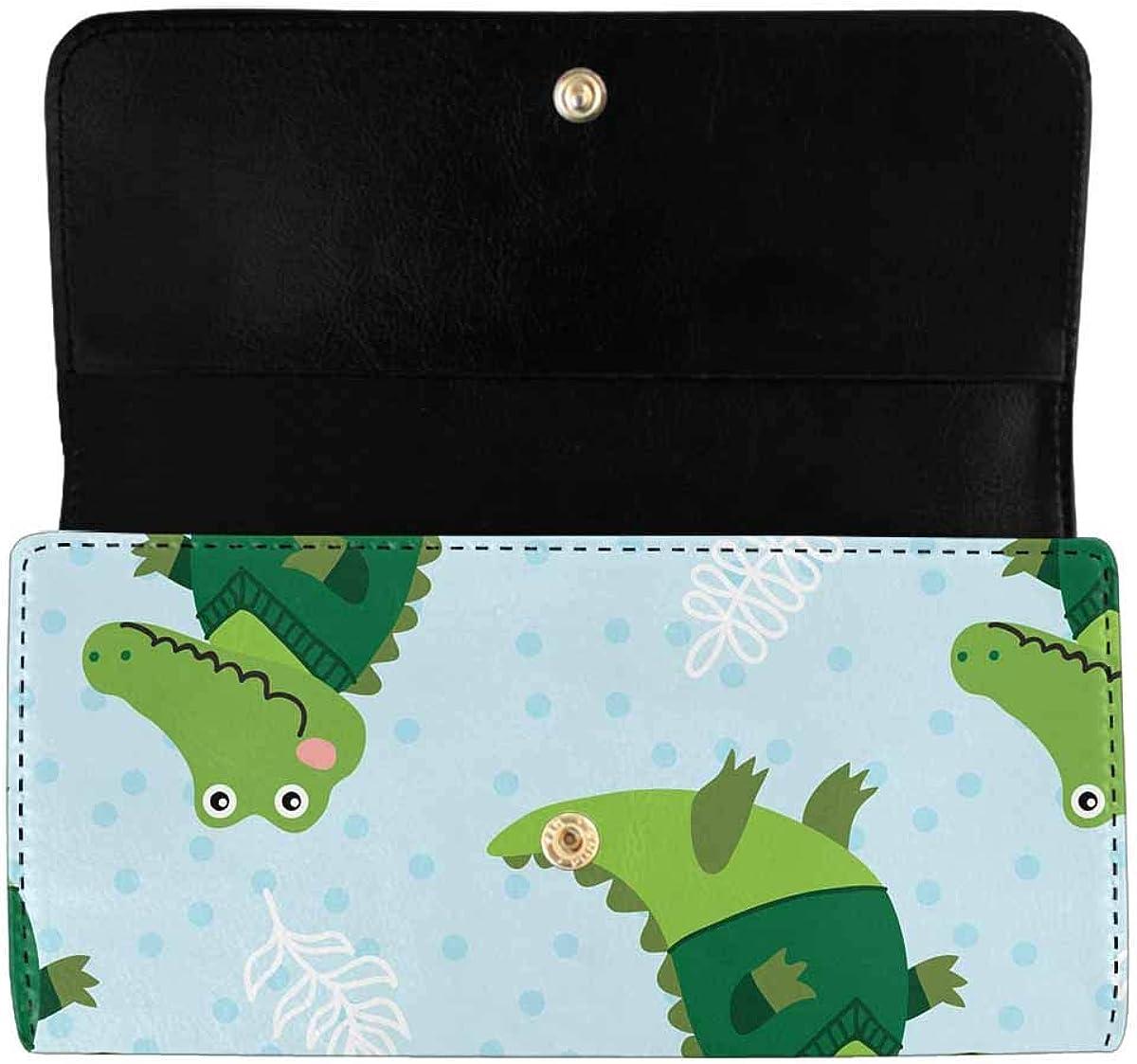 INTERESTPRINT Women's Trifold Clutch Wallets Cute Cartoon Air Pattern Card Holder Purses Handbags