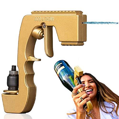 Duwen Champagne Beer Bottle Scorscorios2021 Nuevo Bubbly Blaster Champagne Gun, Bubbly Blaster Champagne Pistolador Burbujeante Blaster Gold Elegant, y una encantadora adición a tus ocasiones especial