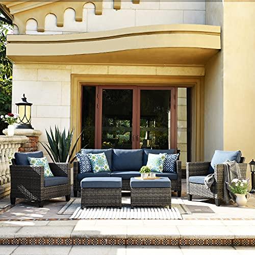 XIZZI Patio Furniture, Outdoor Garden Sofa sectional, Wicker Patio Furniture with Wather Resistant...