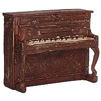 ロマンチックなバレンタインデーピアノクラフト、ピアノモデル、明るい色の絶妙な職人技リビングルーム用の高品質のテレビキャビネット(7111-78 (red piano))