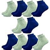 GAWILO 10 Paar Sneaker Socken | kurze Halbsocken | hoher Baumwollanteil | flache Zehennaht | kein Fusseln (39-42, mix 2)