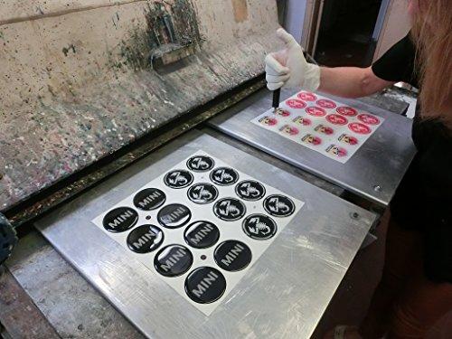 Colores 50 mm Tuning Efecto 3d 3 m resinato coprimozzi Tachuelas Caps pegatinas stickers para círculos de aleación x 4 unidades): Amazon.es: Coche y moto
