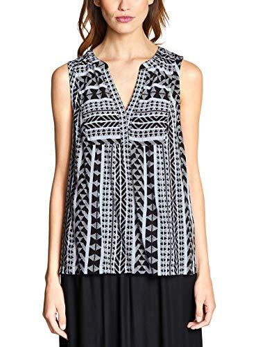 Street One Damen 341484 Bluse, Mehrfarbig (Black 20001), (Herstellergröße:38)