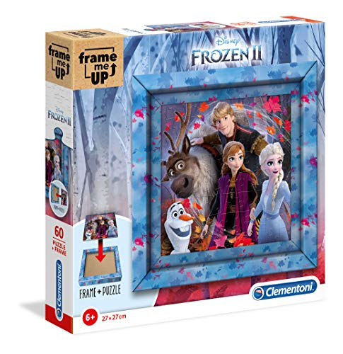 Clementoni Disney Frame Me Up-Puzzle de 60 Piezas – Frozen 2, Multicolor (38803)