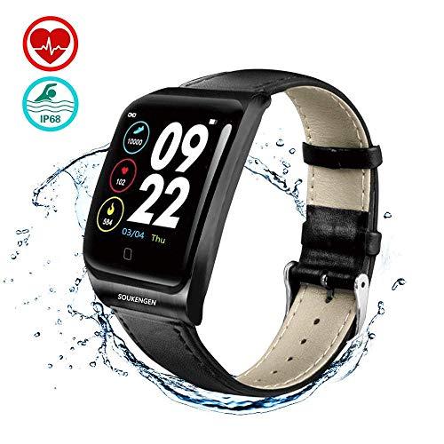 ZDNP Smart Watch, Schermo a Colori ECG e PPG Impermeabile Fitness Tracker Pedometro Contacalorie Monitor del Sonno Sveglia Bambino Signore Menzz