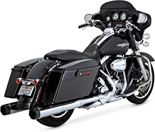 Vance & Hines Hi Output Slip Ons Chrome with Carbon End Caps 16465