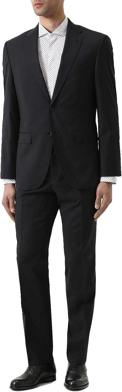 Hugo Boss Men's 'Phoenix/Madisen' Comfort Fit Black Wool Suit, 40L