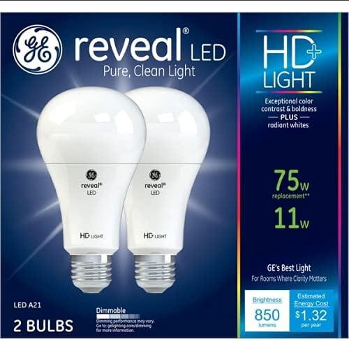 GE Reveal LED Las Vegas Mall 75 watt Equivalent Medium Classic Base A21 Dimmable Ligh