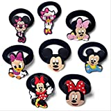 ZPF Diadema8 unids/lote Mickey Minnie Hair Barrettes bandas de pelo de goma de dibujos animados calientes diadema Navidad accesorios para el cabello para niñas pinzas para el cabello3702B