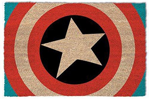 1art1 Capitán América - Shield Felpudo Alfombra (60 x 40cm)