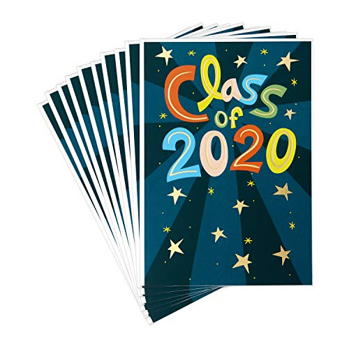 Hallmark 2020 Pack of 10 Graduation Cards with Envelopes (Amazing, Remarkable You)