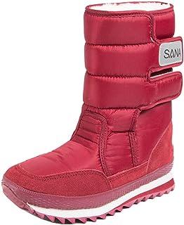 JSY Bottes de neige d'hiver chaudes antidérapantes pour homme et femme Bottes chaudes en coton Chaussures de neige pour fi...
