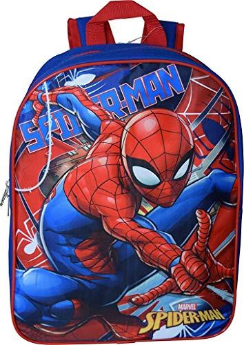 Spiderman 15' School Bag Backpack (Blue-Red)