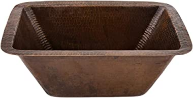 Premier Copper Products BRECDB2 17-Inch Rectangle Copper Bar Sink with 2-Inch Drain Size, Oil Rubbed Bronze