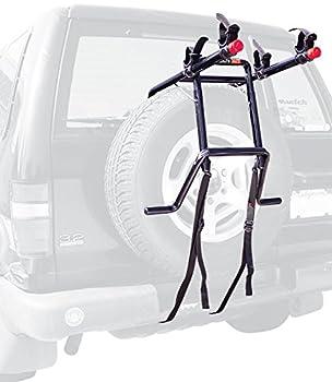 Allen Sports Deluxe 2-Bike Spare Tire Rack  Black