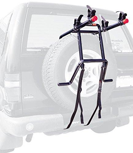 Allen Sports Deluxe 2-Bike Spare Tire Rack , Black