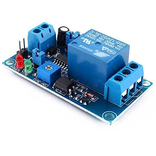 Yosoo Fine DC 5V/12V Delay Relay Delay with Timer Turn on Delay Turn off Switch Module (12V)