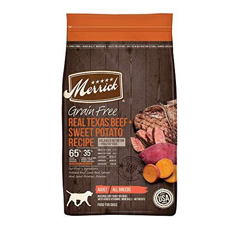 Merrick Grain Free Dry Dog Food Real Texas Beef & Sweet Potato Recipe - 22 Lb Bag