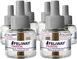 Feliway MultiCat Calming Diffuser Refill (6 pack, 48 ml) | Vet Recommended | Reduce Fighting and Conflict Among Cats,...