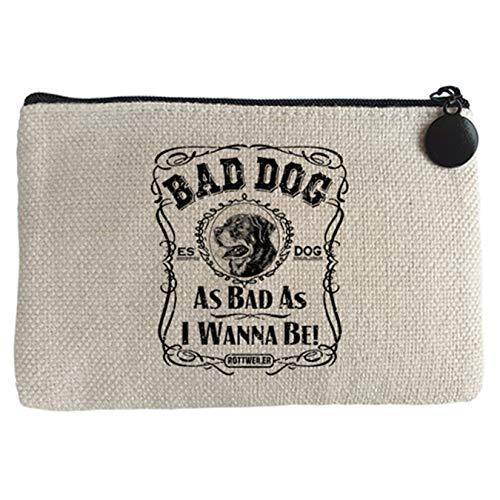 Diver Bebé Monedero frase perro raza Rottweiler Bad dog as bad as I wanna be - Beige, 15 x 10 cm