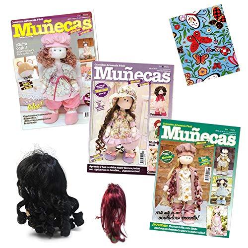 3 revistas de Muñecas de tela RUSAS + 1 tela + 1 Peluca