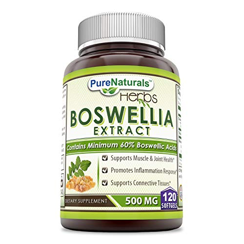 Pure Naturals Boswellia Extract 500 Mg 120 Softgels -Supports Muscle & Joint Health* - Supports Connective Tissues*