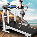Soul Case Professional Treadmills Mechanical Treadmill 4-in-1 Portable Installation-Free Under Desk Treadmill LCD Display Motorized Running Home Gym Workout Fitness 2.0HP Treadmills 45.3'X21.6'X43.3'