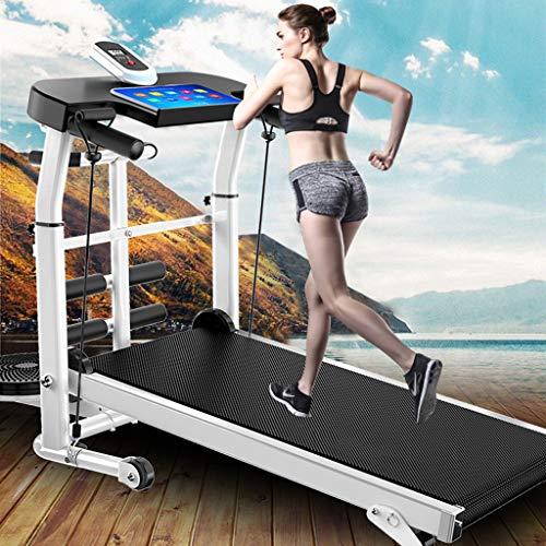 "zxcvb Mechanical Treadmill 4-in-1 Portable Installation-Free Under Desk Treadmill LCD Display Motorized Running Home Gym Workout Fitness 2.0HP Treadmills 45.3""X21.6""X43.3"""