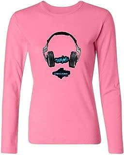 IIOPLO Women's Headphones Band Long Sleeve T-shirt