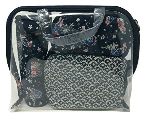 Vera Bradley Iconic Four-Piece Cosmetic Set Holiday Owls One Size