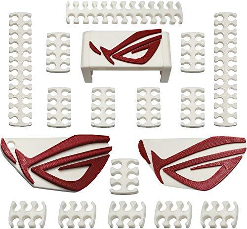 Pettini Ferma cavi Sleeve Asus Rog 6-8 - 24 PIN + Logo Asus Adesivo per il Case + Portachiavi Asus Rog - PC Gaming Piedini per Alimentatore PSU Cable