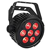 OPPSK Stage Par Light with 70W 7LED Penta Color RGBWA Sound Activated Auto Program Remote DMX Control for DJ Wedding Party Church Stage Wash Lighting