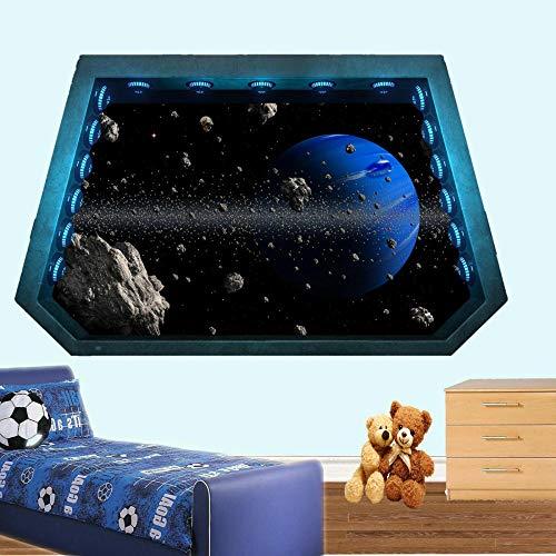 Wandtattoos-3D-SPACE WALL STICKERS KUNST MURALPOSTERBÜROHAUSDEKOR-50x70cm